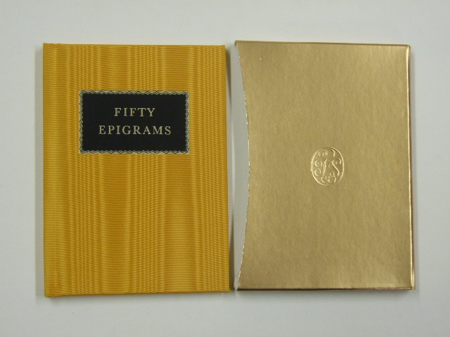 Fifty Folio Epigrams