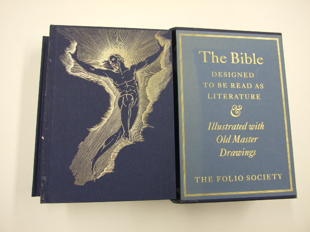 The Bible Designed to be read as literature with Old-Master Drawings 2 Volume set