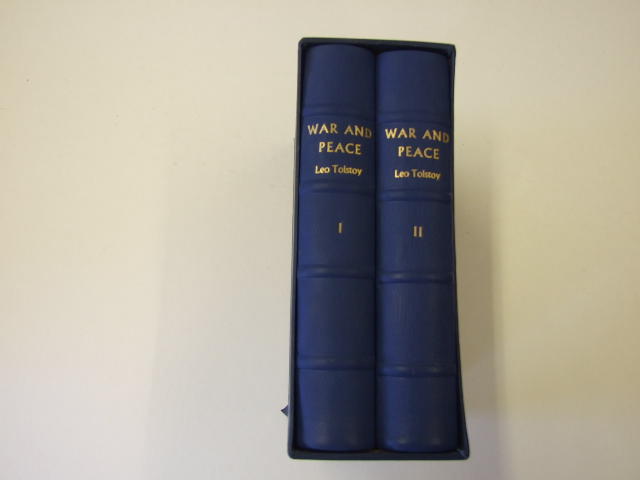 War and Peace in two volumes Leather Edition