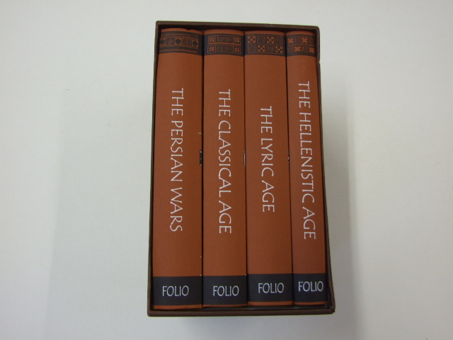 The Folio History Of Ancient Greece 4 volumes: The Classical Age; The Lyric Age; The Persian Wars; The Hellenistic Age