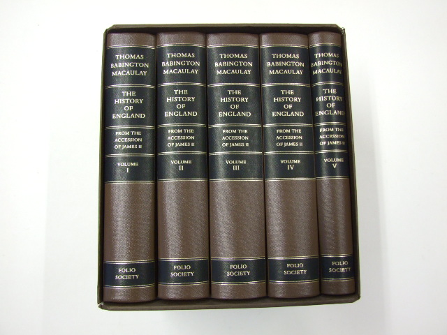 The History of England from the Accession of James II Introduction by Peter Rowland in 5 Volumes