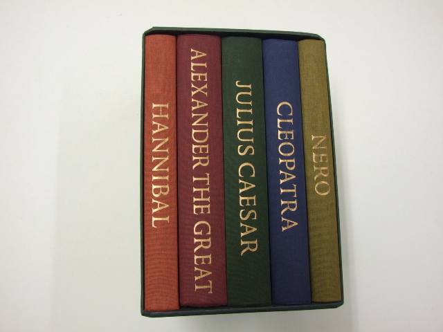Rulers of the Ancient World - 5 volumes - Hannibal, Julius Caesar, Cleopatra, Alexander the Great, Nero