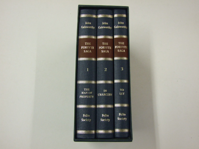 The Forsyte Saga (The Man of Property,To Let, In Chancery) 3 volume set