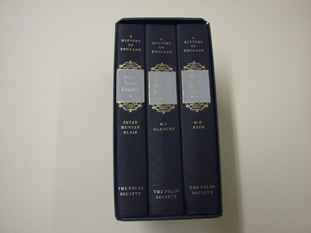 A History of England 3 Volumes, Anglo-Saxon England by Peter Hunter Blair, Early Medieval England by M.T. Clanchy, England in the Later Middle Ages by M.H. Keen